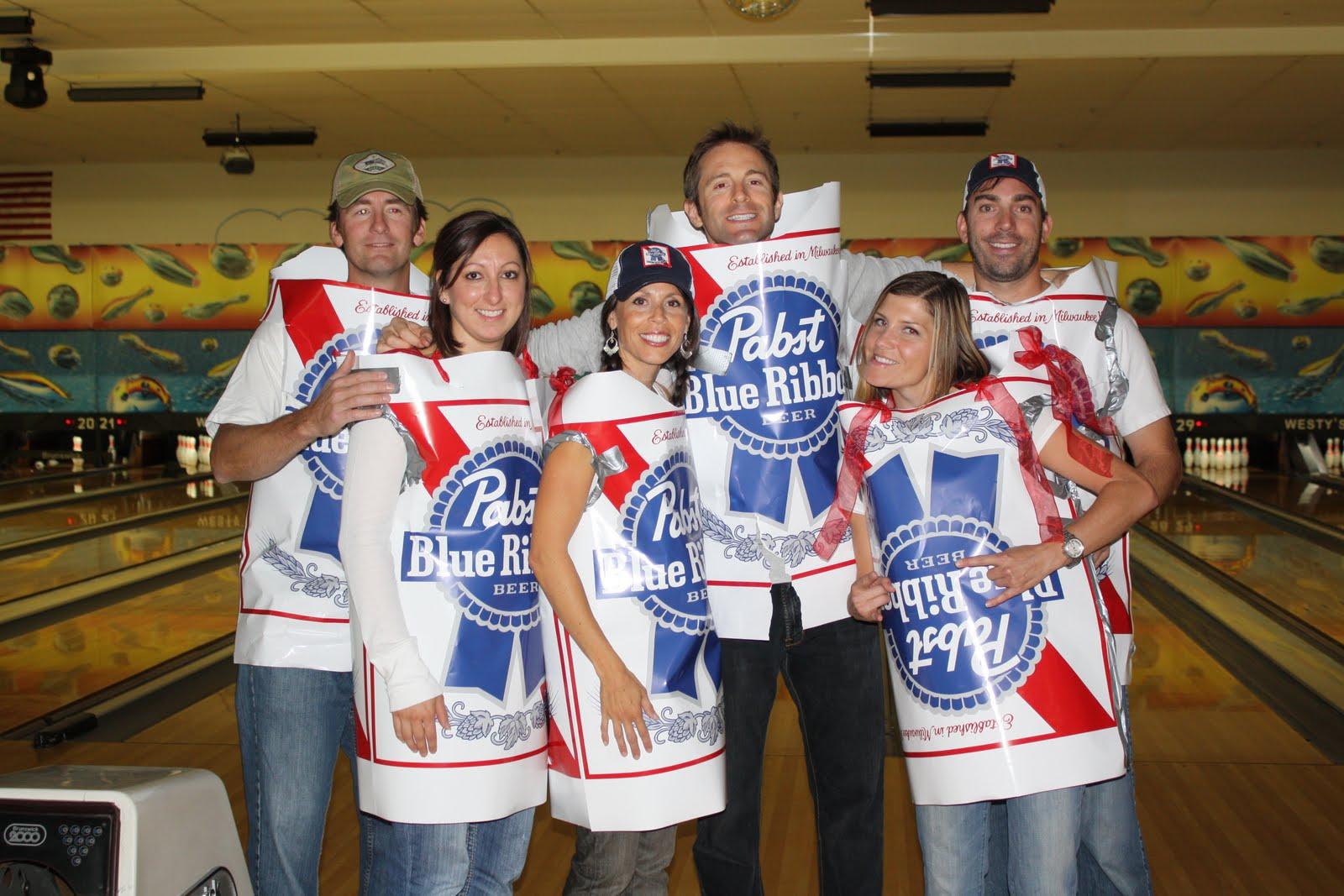 Mogensen Family: Beer Frame Bowling - Halloween Night