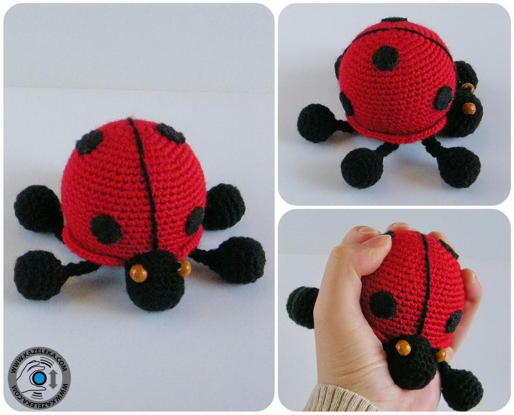 crochet amigurumi ladybug