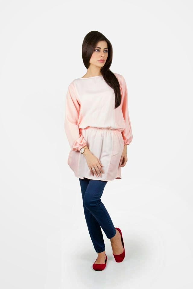 stylish dresses for western girls from 2014 by khaadi