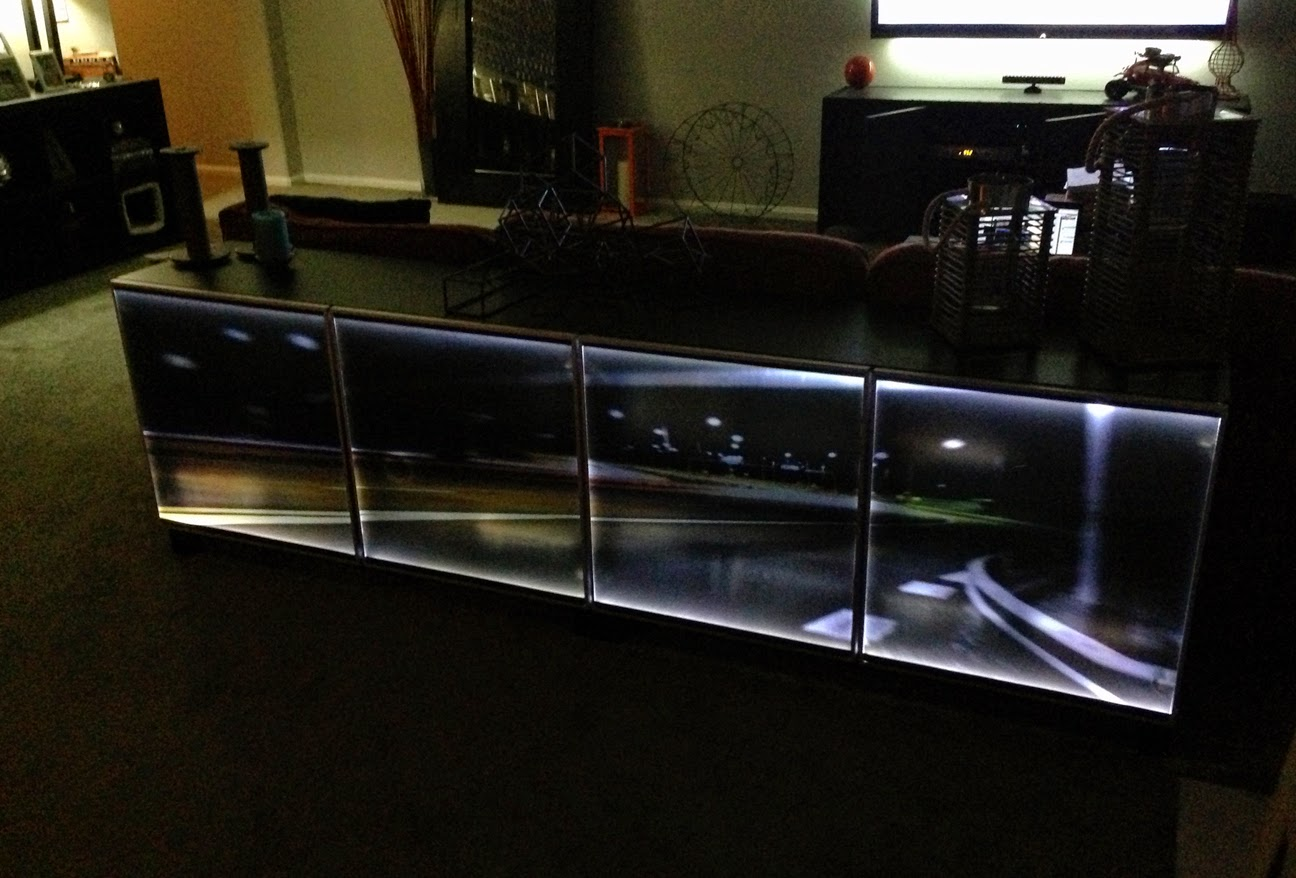 Besta Wall Unit With Door : Materials Besta units with glass doors, LED strips, power suply