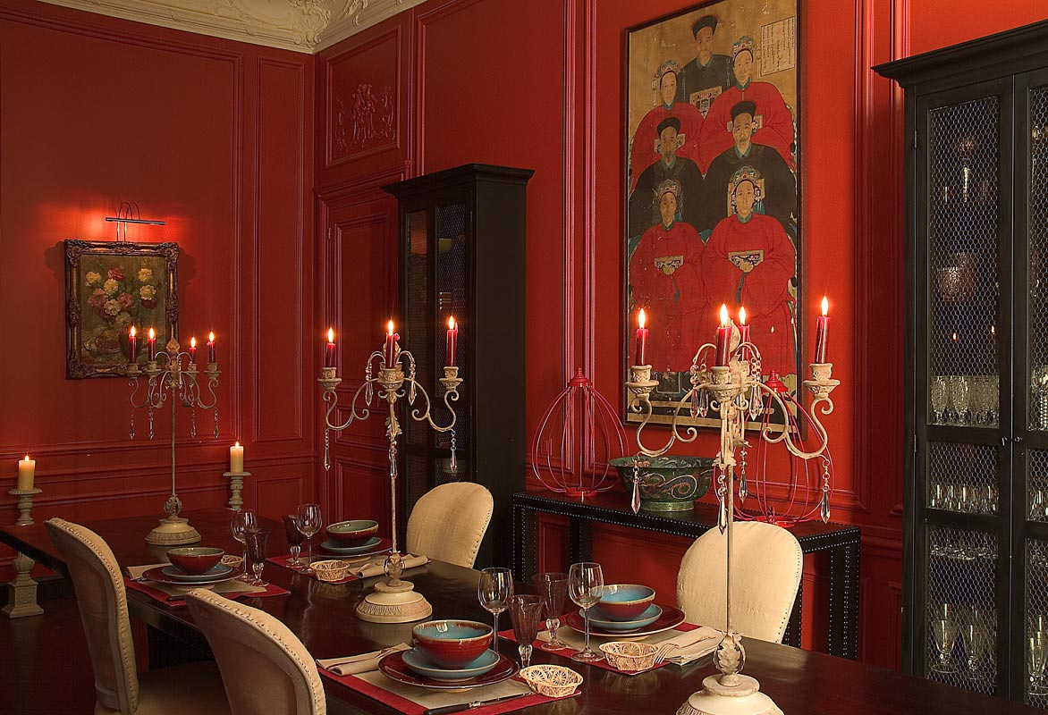 The style abettor red dining rooms