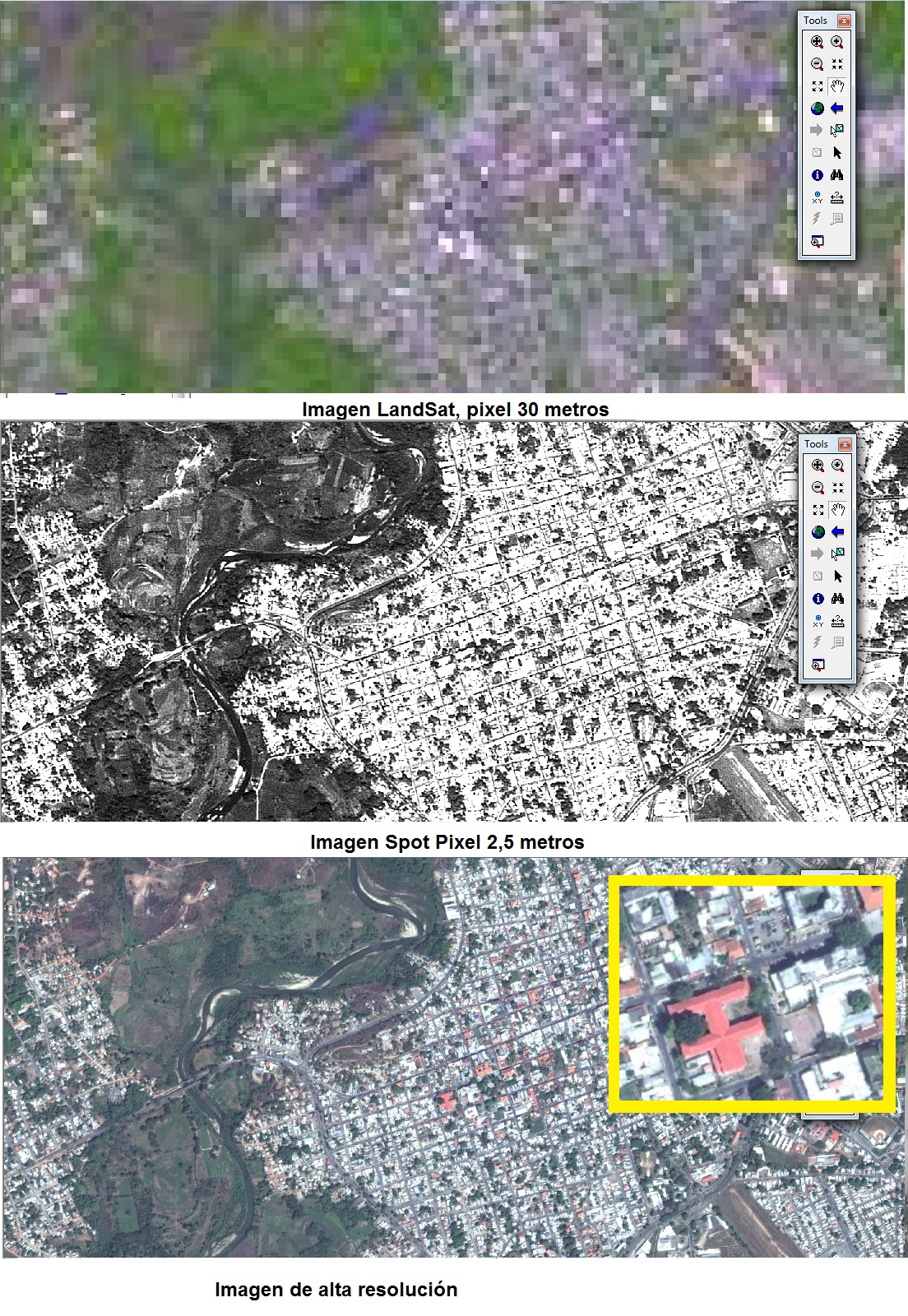 Imágenes de Satélite vs Imágenes de Alta Resolución Libres