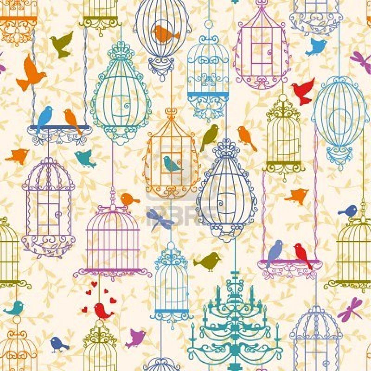 Bird vintage wallpaper | Etsy