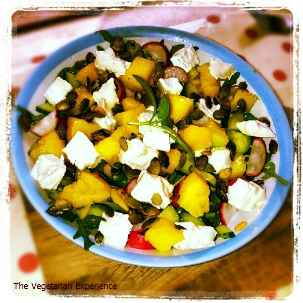 The Vegetarian Experience: Goats Cheese and Mango Salad ...