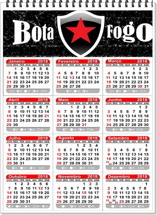 Calendário - 2018