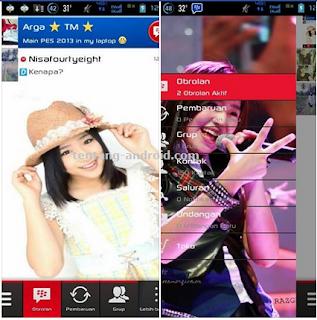 BBM MOD Tema Haruka JKT48 Apk Gratis