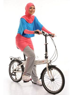 Model Desain Baju Olahraga Aerobik Muslimah Terbaru 2015