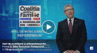 Cristian Ionescu 🔴 Apel de mobilizare la referendumul din 6-7 Octombrie