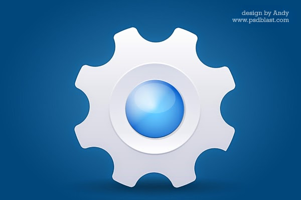 Glossy System PSD Icon