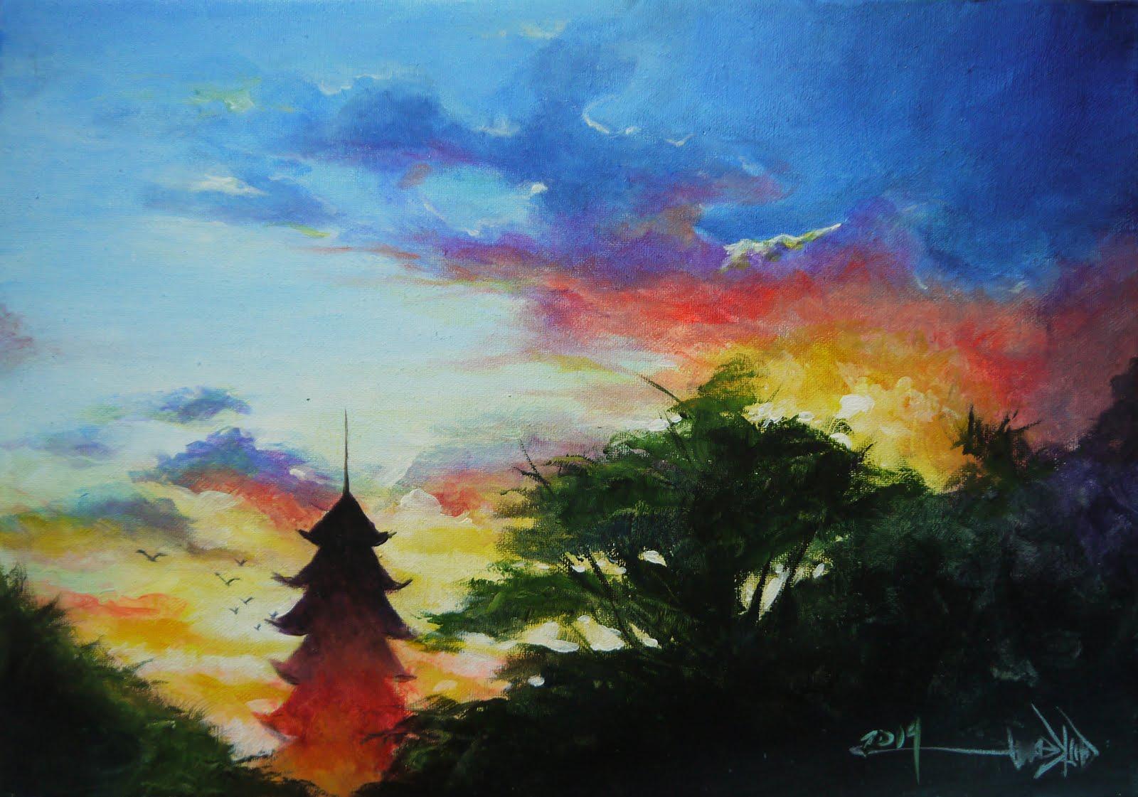 Acrylic Landscape Demonstration
