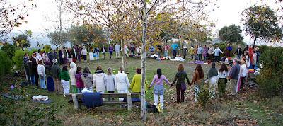 Julio Alonso meditacion grupal en Montserrat circulo