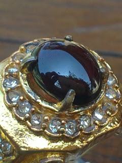 natural dark red garnet