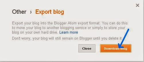 Exporting a Blog