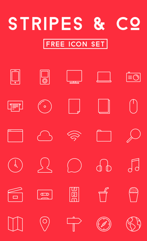 Stripes & Co - Free icon Set
