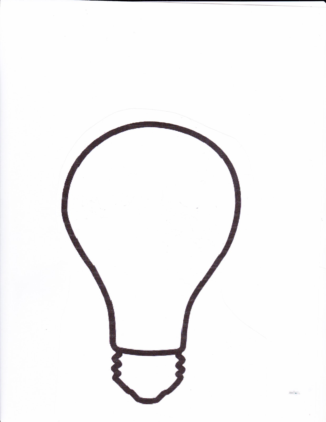 Light Bulb Writing Template Lorinda character Education Story Of The