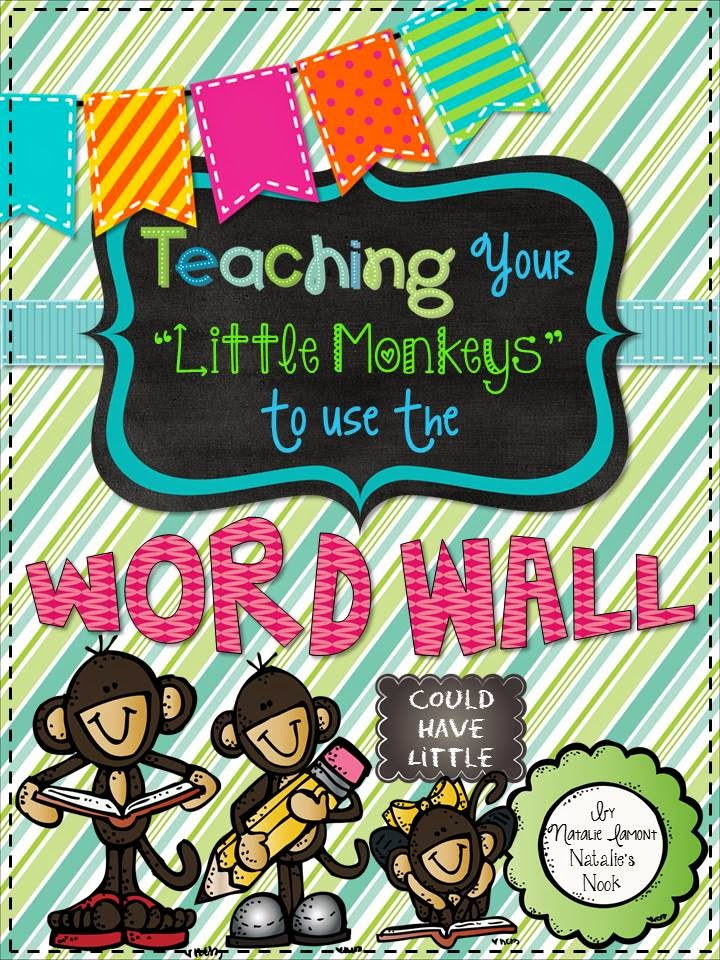 http://www.teacherspayteachers.com/Product/Teaching-Your-Little-Monkeys-How-To-Use-The-Word-Wall-34-Week-Program-824639