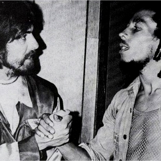 George Harrison and Bob Marley