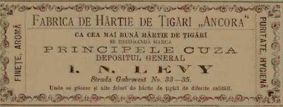 Reclama 1888 la foaie de tigari