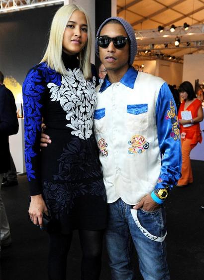 Pharrell Williams And His Model Baby Mama Helen Lasichanh ...