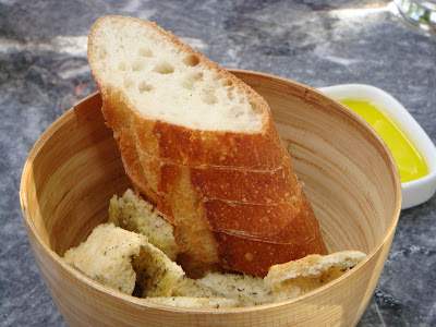 Bread and oil at Oleana, Cambridge, Mass.