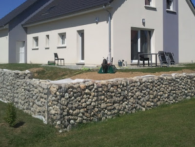 cage metallique gabion soi-même kit mur soutenement galet