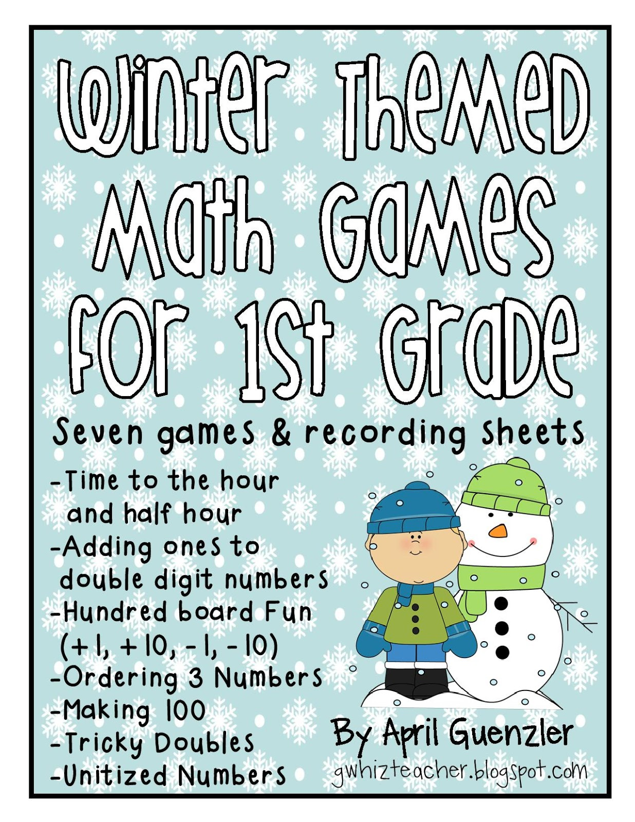 gwhizteacher: Winter Math Games