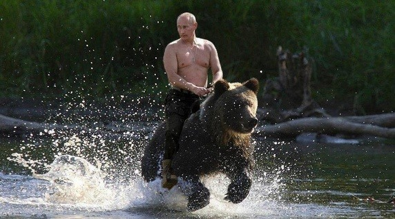 Vladamir Putin and the Center Bear