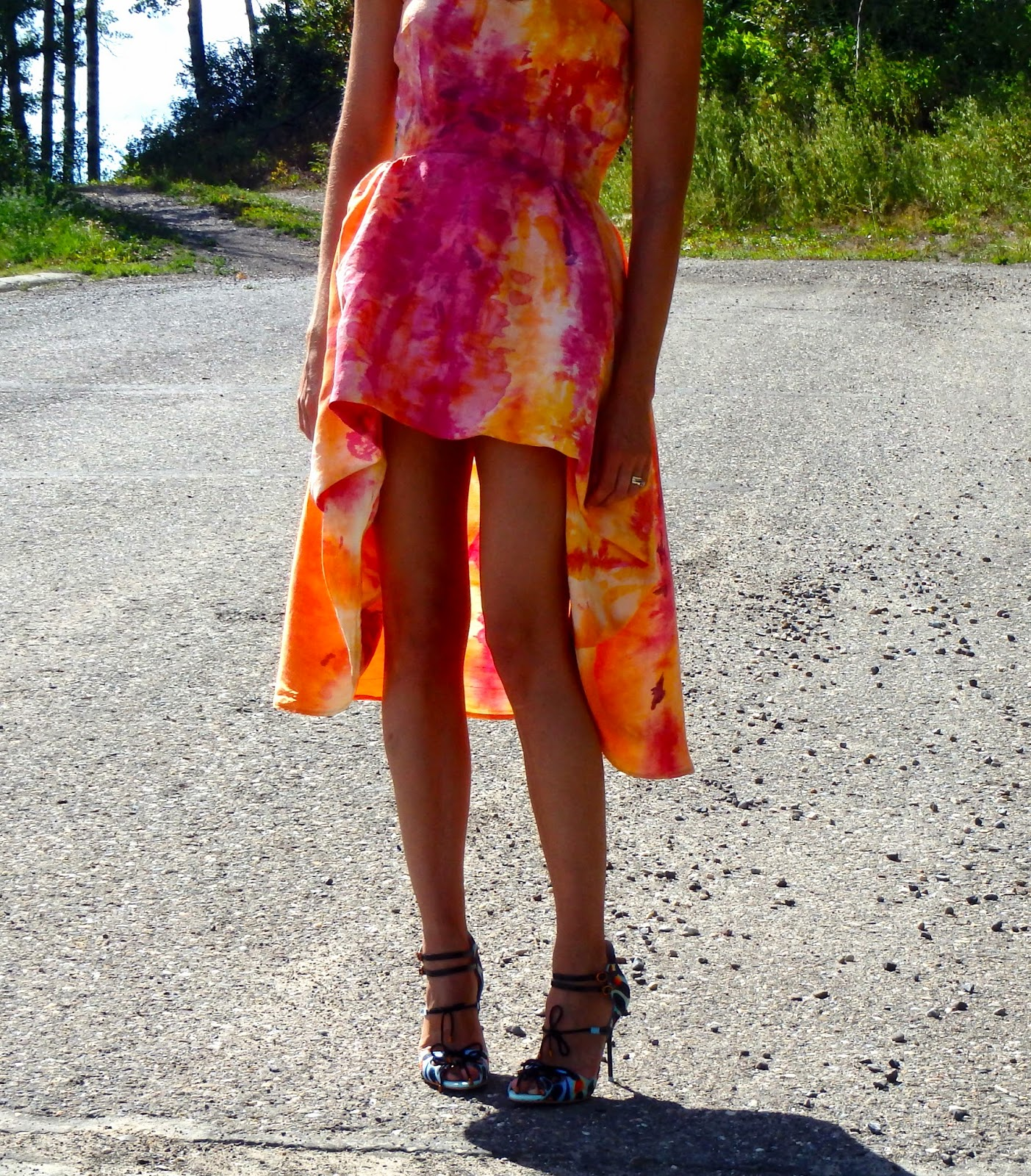 Hi Low Hem, Mullet Skirt, Tie Dyed Dress