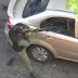Guardia Nacional rompió el vidrio del carro de un venezolano que le quitó la jeva en el liceo