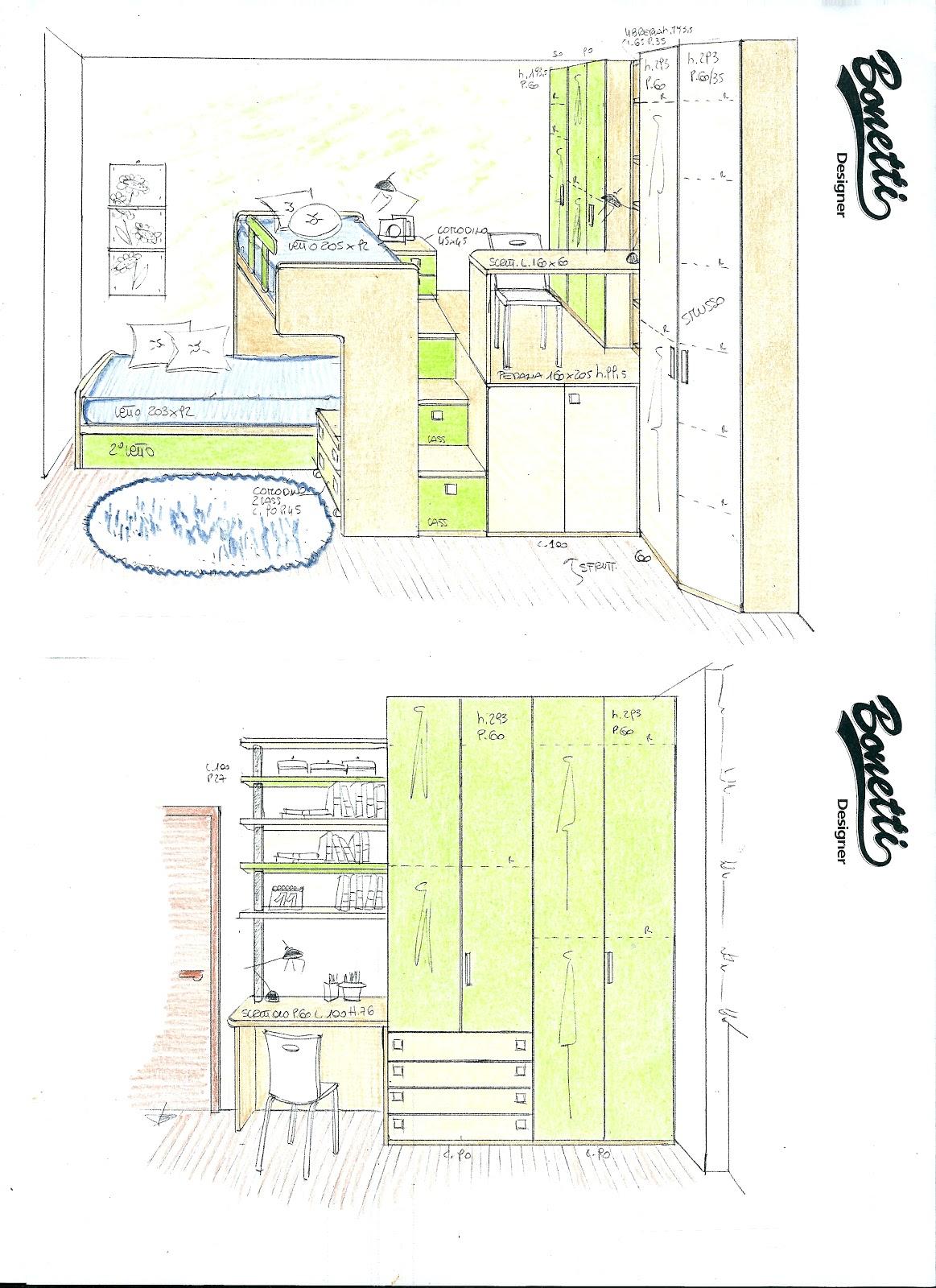 Bonetti camerette bonetti bedrooms progetti camerette - Camerette piccole soluzioni ...