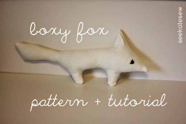 Little plush fox sewing tutorial