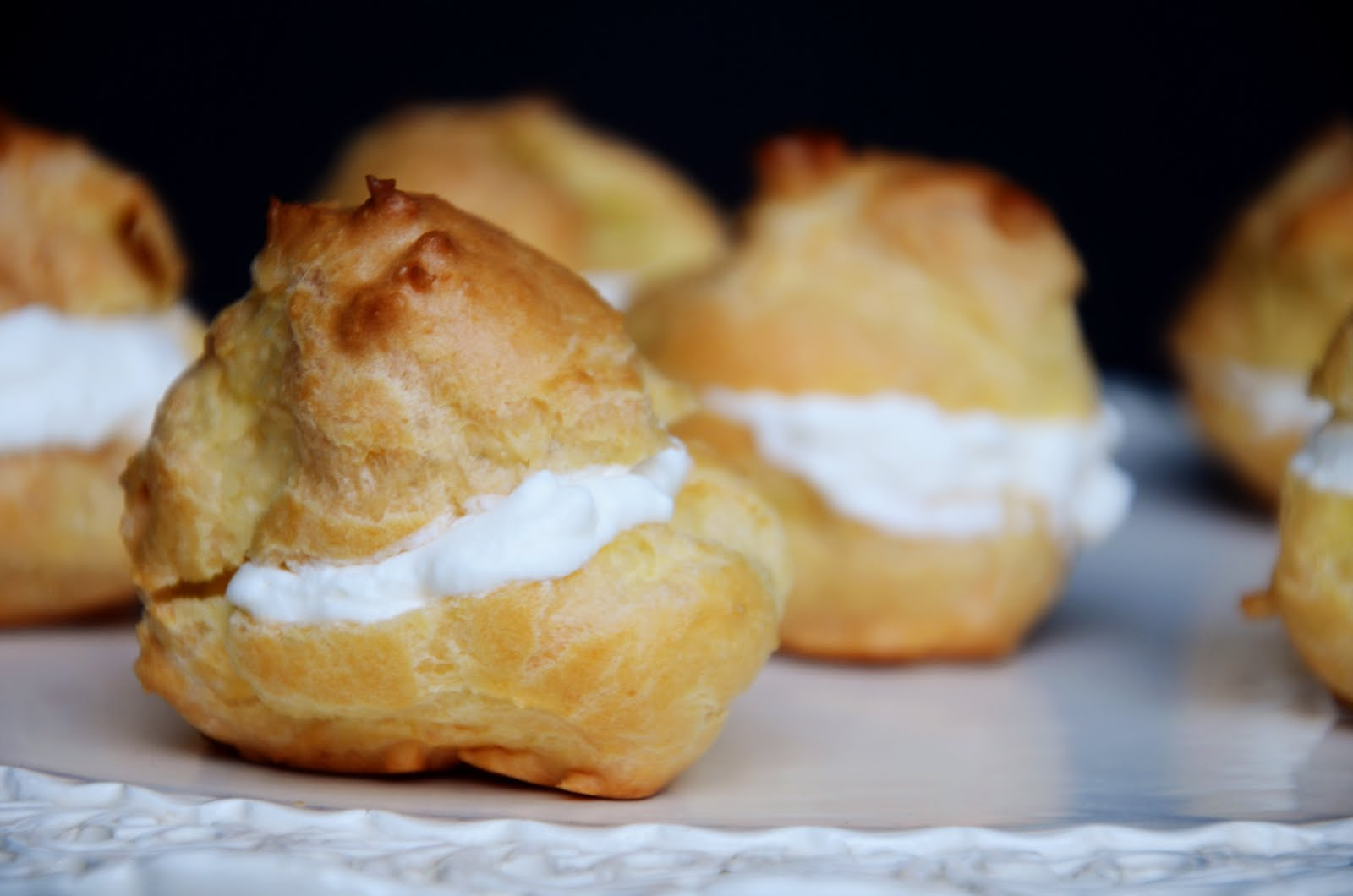 Cream puffs are best served on the same day! They tend to get a bit ...