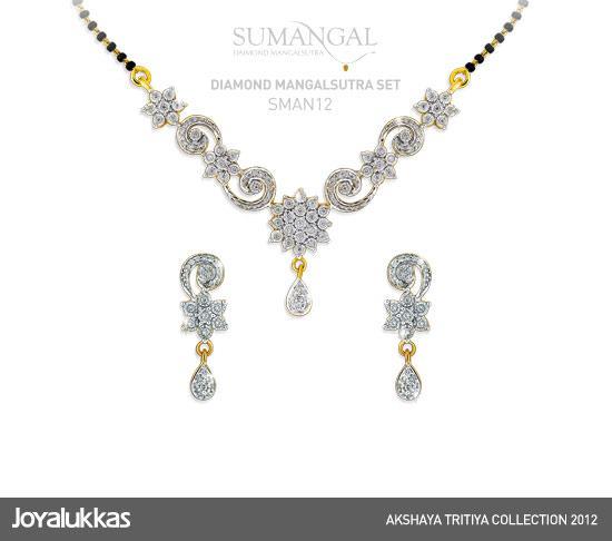 Gold and diamond jewellery designs joy alukkas diamond mangalsuta checkout joy alukkas beautiful diamond mangalsuta necklace set mozeypictures Images