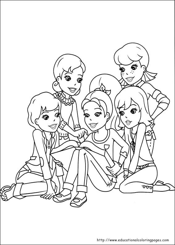 Polly Pocket Coloring Pages