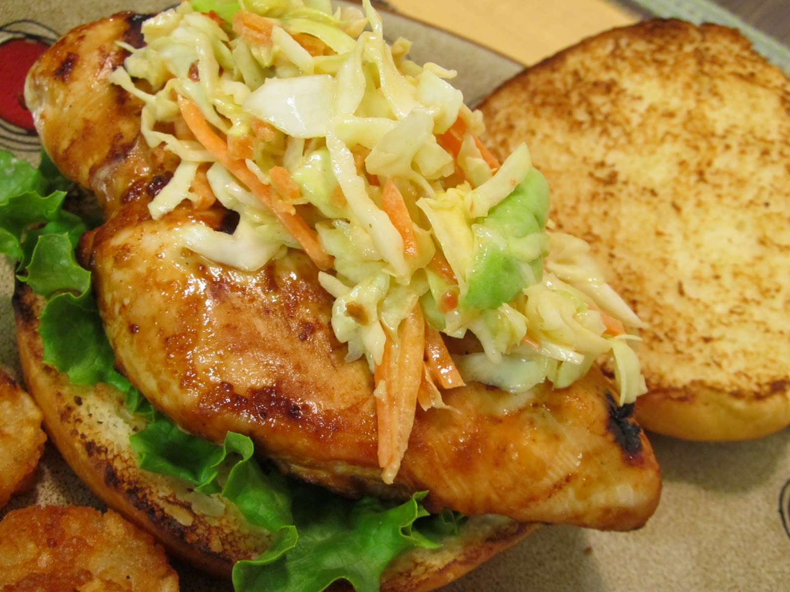 Jenn's Food Journey: Grilled Asian Chicken Sandwich with Slaw