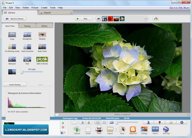 Google Picasa v3.9 - Software Photo Manager