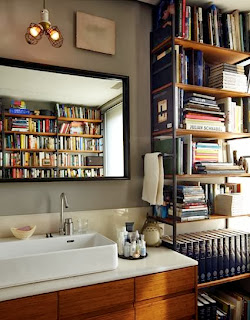 Books in the bathroom