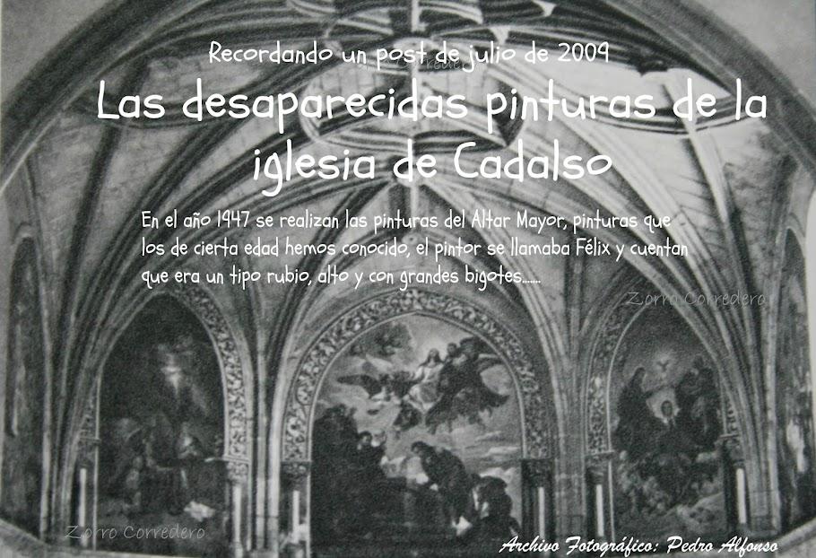Las desaparecidas pinturas de la iglesia de Cadalso