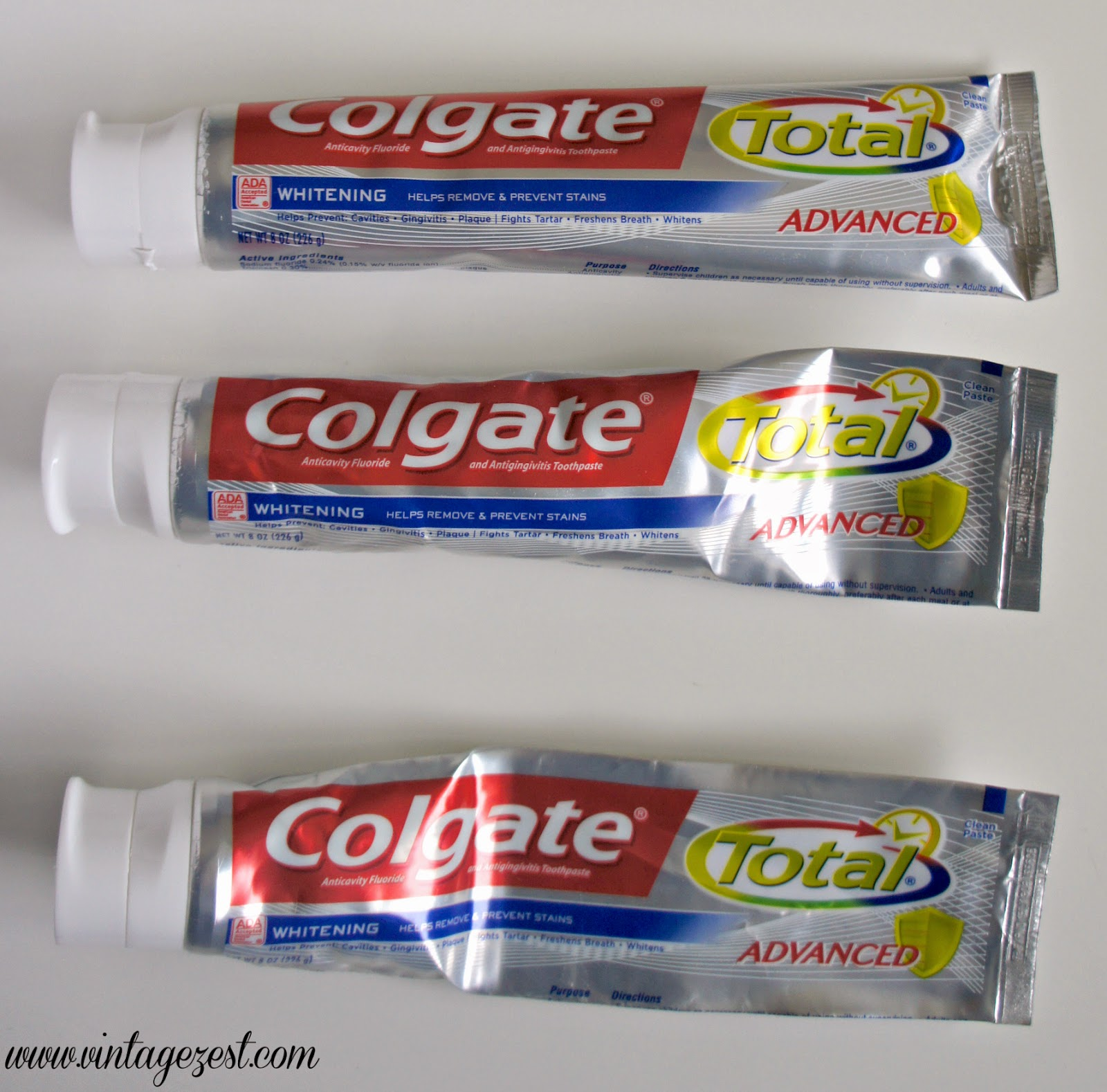 Tip: How to Squeeze a Toothpaste Tube on Diane's Vintage Zest!