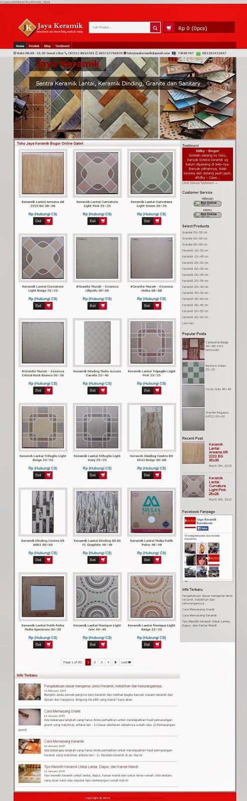Website Toko Online Keramik