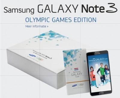 Samsung Galaxy Note 3, Ponsel Resmi Winter Olympics 2014 di Sochi