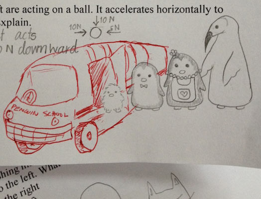 kartun unik karya guru di lembar jawab siswa 4