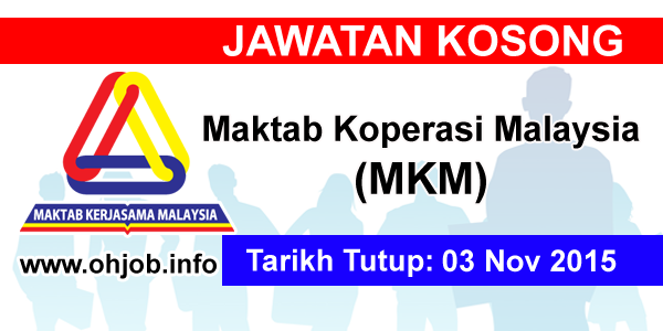 Jawatan Kerja Kosong Maktab Koperasi Malaysia (MKM) logo www.ohjob.info november 2015