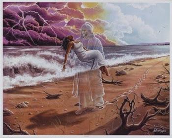 En brazos de Jesús. Hacer clic en la imágen.