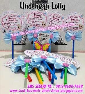 Undangan Lolly Frozen Kartu Undangan Ulang Tahun Anak (Invitation Card)
