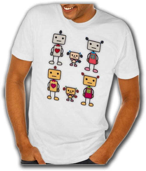 Sold! Robot Boy, Robot Girl, Robot Dog Tee Shirt