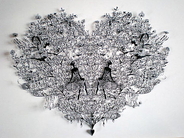 Obras de arte microdetallado cortando papel. Increible