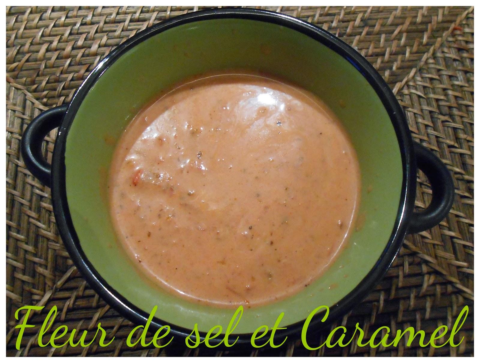 Sauce tomate express au lait de coco