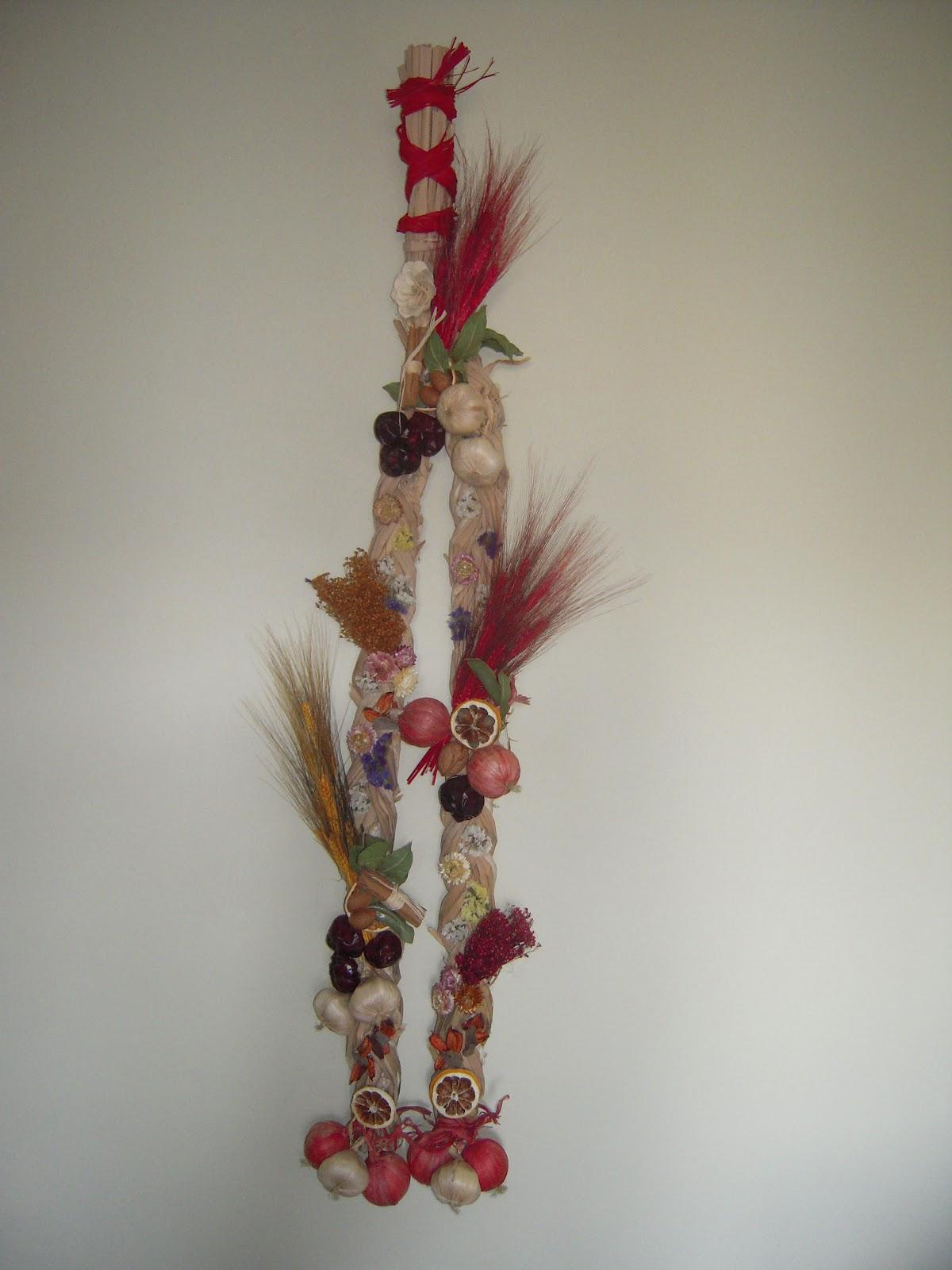 La casita de o nany o decoracion con flores secas - Adornos flores secas ...