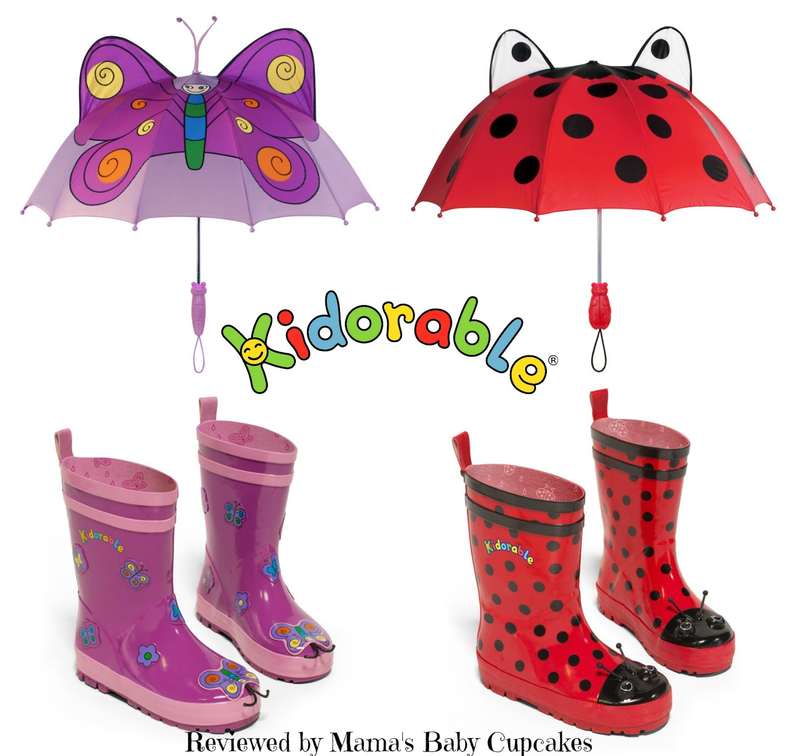 Mama's Baby Cupcakes: Kidorable: Rain Boots and Umbrellas Review